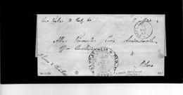 CG1 - Porto Valtravaglia - Doppio Cerchio Sardo Ital - In Araldico Bollo Della Parrocchia - Lett. X Milano 20/11/1863 - Italia