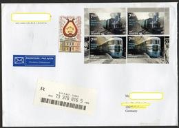 Kroatien 2018  R-Brief / Letter  In Die BRD  ; MiNr. 1340 (2), 1341 (2) Lokomotiven   ; Great Size 23x16cm ! - Kroatien
