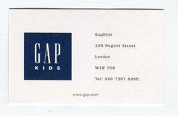 CdV °_ Vêtements-R.U-London-Gap Kids Shopping - Visiting Cards