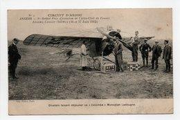 - CPA ANGERS (49) - CIRCUIT D'ANJOU 1912 - Divetain Faisant Déjeuner Sa Colombe Monoplan Ladougne - Edition Pichot N° 3 - Angers