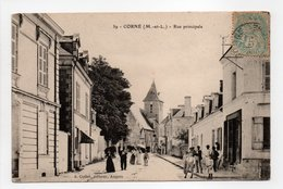 - CPA CORNÉ (49) - Rue Principale (belle Animation) - Edition Collet N° 39 - - Other Municipalities