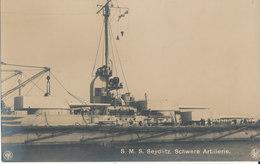 S. M. S. SEYDLITZ. SCHWERE ARTILLERIE - Guerre
