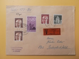 1971 BUSTA ASSICURATA GERMANIA DEUTSCHE BOLLO OLYMPIC GAMES ANNULLO OPFINGEN OBLITERE' GERMANY - Lettres & Documents
