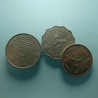 Hong Kong 3 Coins Total 8 Dollars - Hongkong