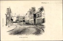 Cp Maubeuge Nord, La Rue De La Croix, Straßenansicht - France