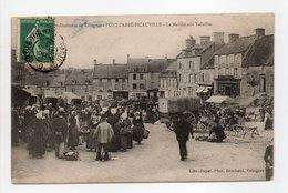 - CPA PONT-L'ABBÉ-PICAUVILLE (50) - Le Marché Aux Volailles 1908 (belle Animation) - Photo Brochard - - Other Municipalities