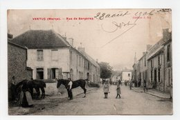 - CPA VERTUS (51) - Rue De Bergères 1906 (avec Personnages) - Edition J. D. - - Vertus