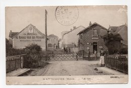 - CPA MATOUGUES (51) - La Gare 1914 (avec Personnages) - Edition BRUNEL - - Other Municipalities