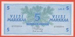 Billet - FINLANDE - 5 Markkaa - De 1963 - Litt. A  Pick 103 - Finlande