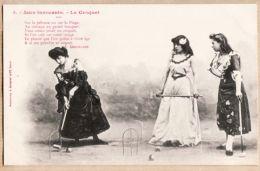 ILL254 Phototypie BERGERET & Cie Nancy Série JEUX INNOCENTS Le CROQUET N°5 Poême A. GABORIAUD - Bergeret