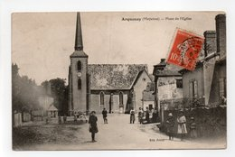- CPA ARQUENAY (53) - Place De L'Eglise 1912 (avec Personnages) - Edition Fricot - - Autres Communes