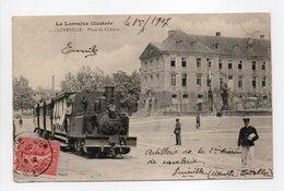 - CPA LUNÉVILLE (54) - Place Du Château 1907 (avec Train à Vapeur) - N° 3 - - Luneville