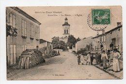 - CPA MÉNIL-LA-TOUR (54) - Grand'Rue 1909 - La Mairie - L'Eglise (belle Animation) - Edition E. Brod - - Other Municipalities