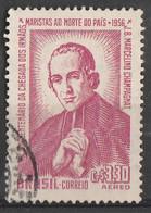 PIA - BRASILE  - 1956 : 50° Anniversario Dell'evangelizzazione Del Nord Dei Fratelli Maristi  - (Yv P.A.  60) - Luchtpost