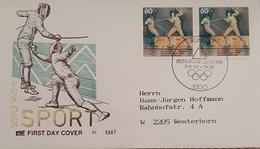 Germany FDC 1992 Sport Fencing - [7] Federal Republic