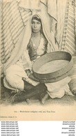 WW ALGERIE. Musicienne Indigène Avec Son Tam-Tam - Donne