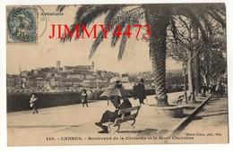 CPA - CANNES - Boulevard De La Croisette Et Le Mont Chevallier En 1906 - N° 410 - Edit. GILETTA à Nice - Cannes