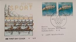 Germany FDC 1992 Sport Rowing - [7] Federal Republic