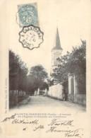 Convoyeur Ligne Luçon à Chantonnay Sur CP Entrée Du Chateau Avenue De L'église De Sainte-Hermine Vendée - Poststempel (Briefe)