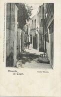 Capri Ricordo Di Capri Corso Tiberio  Edit  Schaar Dathe Trier Germany, Otto Brandes  Undivided Back - Altre Città