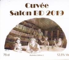 Etiquette Vin HELENE V. Festival BD Lys Lez Lannoy 2019 (la Fille Des Cendres - Arte Della Tavola