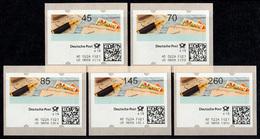 10 Versuchsausgabe 5 ATM 45-260 Cent Stanztype III Kpl. Tastensatz Postfrisch ** - BRD
