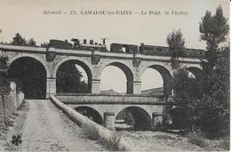 LAMALOU LES BAINS (Hérault ); Le Pont, Le Viaduc Sur L'Orb  Le Train - Lamalou Les Bains