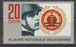 DDR  - Deutsche Demokratische Republik  - 1971  -15 Jahre Volksarmee   - MiNr.1652    Siehe Scan - Ongebruikt