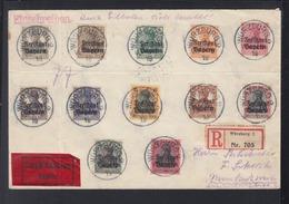 Bayern Expres Brief 1919 Würzburg Aufdrucke - Bayern