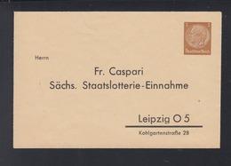 Dt. Reich Umschlag Caspari Sächsische Lotterie - Allemagne