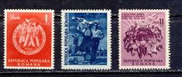 1951 - Michel Nr. 1264/66 - Youth Festival Berlin  MNH Romania Rumanien - 1948-.... Repúblicas