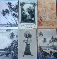 CEYLON.....Sri Lanka....Six Vintage Postcards....... Ca.  1910? - Sri Lanka (Ceylon)