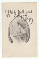 *** ILLUSTRATION *** FEMME *** With All Good Wishes *** Brechet De Poulet ***  1913 *** - Holidays & Celebrations