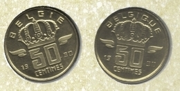 50 Cent 1990 Frans+vlaams * Uit Muntenset * FDC - 03. 50 Centiem