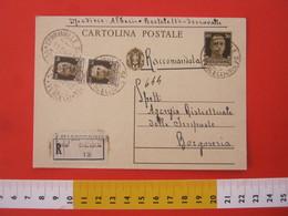 PC.3 ITALIA REGNO CARTOLINA POSTALE 1932 IMPERIALE 30 CENT + 2 FR. 30 Cent RACCOMANDATA DA SERRAVALLE SESIA X BORGOSESIA - 1900-44 Victor Emmanuel III