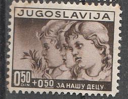 PIA  - JUGOSLAVIA : 1938 - Uso CorrenteA Profitto Dell' Infanzia - (Yv 314-17) - Nuovi
