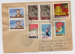 MAIL Pos Cover USSR RUSSIA Greece Manolis Glezos Writer Lenin's Prize Laocoon Space - 1923-1991 USSR