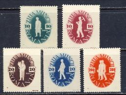 1946 ROMANIA LABOUR DAY MICHEL: 987-991 MNH * - 1948-.... Repúblicas