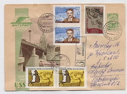 MAIL Post Stationery Cover USSR RUSSIA Greece Manolis Glezos Writer Lenin's Prize Laocoon - 1923-1991 USSR
