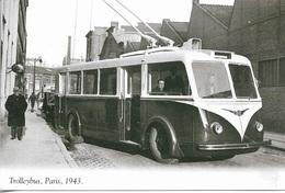 Transport - Trolleybus - Paris 1943 - Cpm - Vierge - - Buses & Coaches