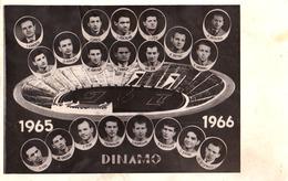 FOOTBALL / BUCURESTI / ROMANIA : ECHIPA De FOTBAL DINAMO - PHOTOMONTAGE / REAL PHOTOGRAPH : 9 X 14 CM - 1965 (ad576) - Roumanie
