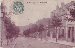 Ardèche : ANNONAY : Le Boulevard - ( Au Dos Tampon Perlé - La Fouillouse - Loire ) - Annonay