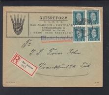 Dt. Reich R-Brief 1924 Gutsreform Vignette Bad Nauheim - Deutschland