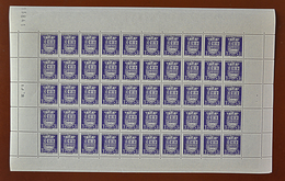 """Feuille Complète De 50 Timbres ARMOIRIES - 1942: 3F+3,50F Violet """"Le Havre"""" N° 561 - Full Sheets"""