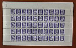 """Feuille Complète De 50 Timbres ARMOIRIES - 1942: 3F+3,50F Violet """"Le Havre"""" N° 561 - Feuilles Complètes"""