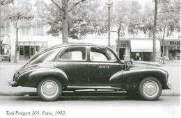 Transport - Automobile - Taxi Peugeot 203 - Paris 1950 - Cpm - Vierge - - Taxi & Fiacre