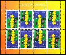 Europa Cept - 2000 - Belarus, Wit Rusland - 1.Complete Sheetlet Of 8 Set ** MNH - 2000
