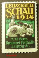Werbemarke Cinderella Poster Stamp Leipzig Hase Brauerei   1914 #87 - Vignetten (Erinnophilie)