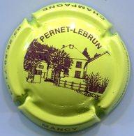 CJ-CAPSULE-CHAMPAGNE PERNET LEBRUN N°15 Vert-jaune Et Violet - Champagne