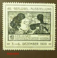 Werbemarke Cinderella Poster Stamp Dresden Geflügel Ausstellung 1909  #50 - Vignetten (Erinnophilie)